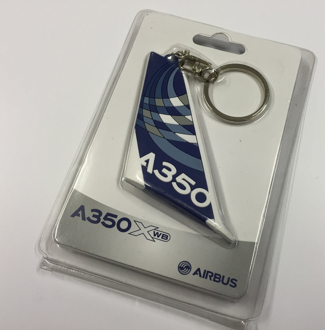 A350 Tail shaped key-ring