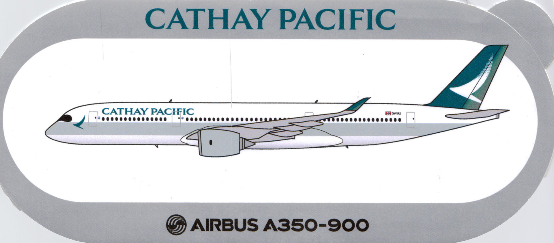 Airbus Sticker A350-900 von Cathay Pacific