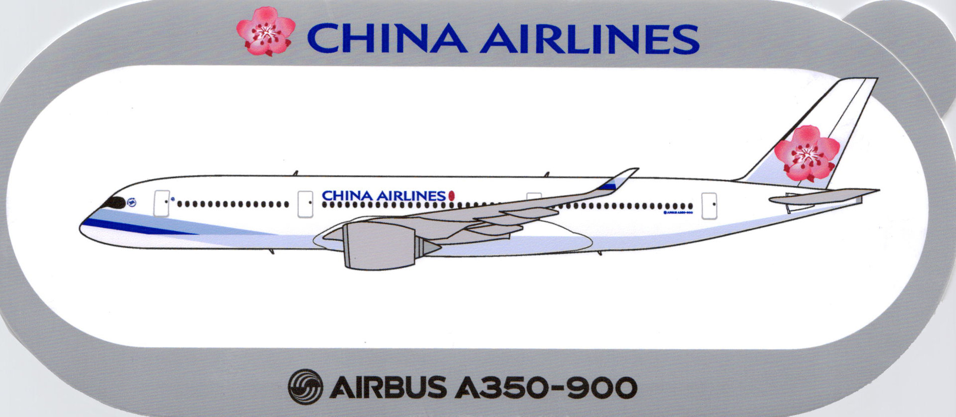 Airbus Sticker A350-900 von China Airlines