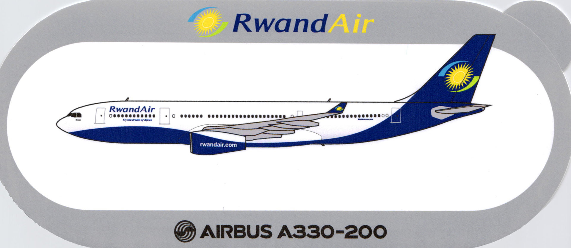 Airbus Sticker A330-200 von Rwand Air
