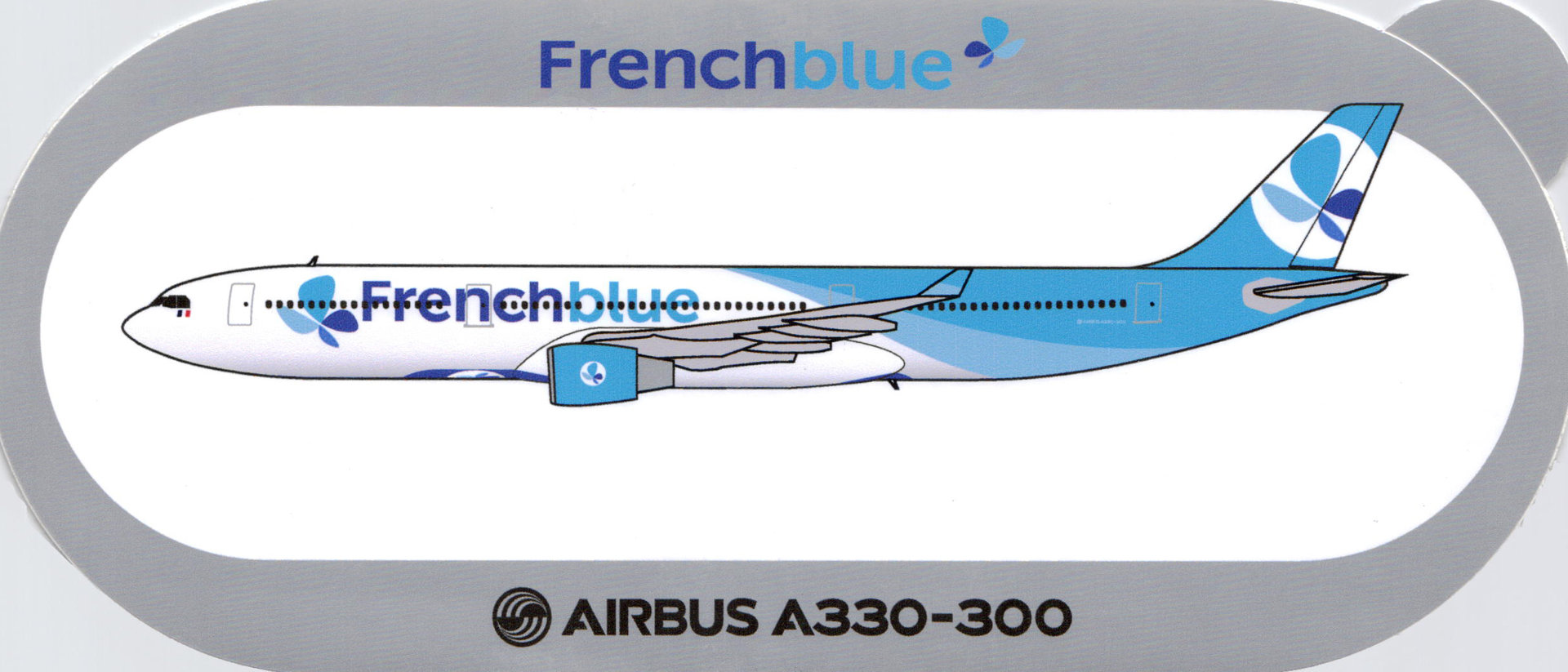 Airbus Sticker A330-300 von Frenchblue