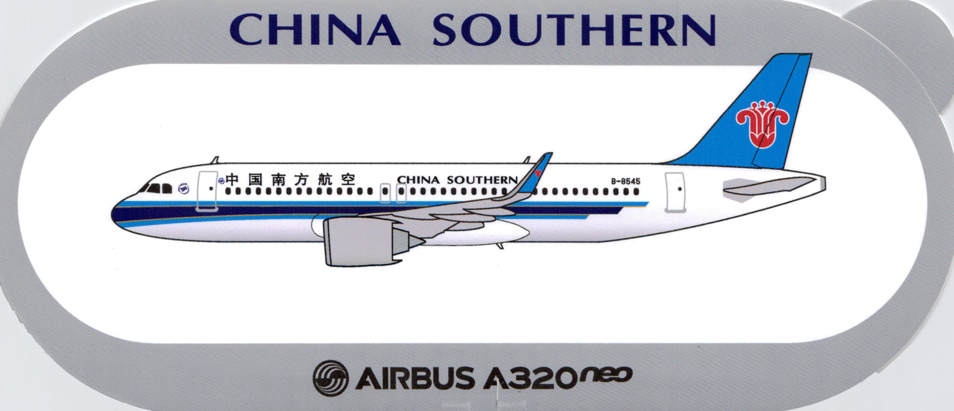 Airbus Sticker A320neo von China Southern