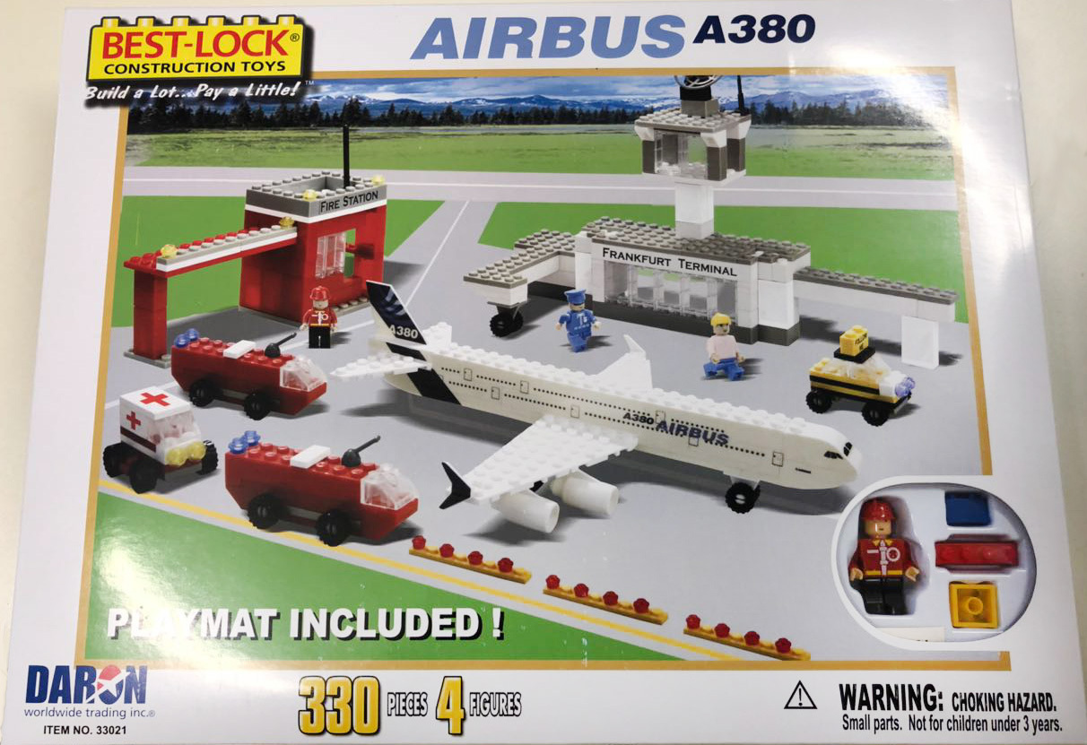 BEST-LOCK Construction Toys A380 Airport Set