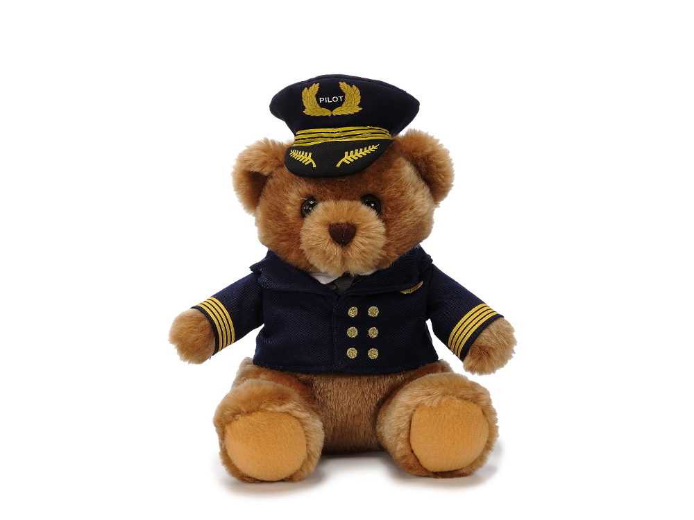 Pilotbär in Uniform (22 cm)