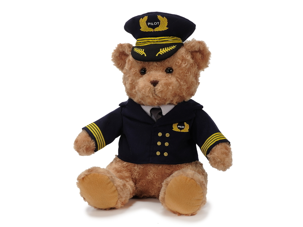 Pilotbär in Uniform 40 cm